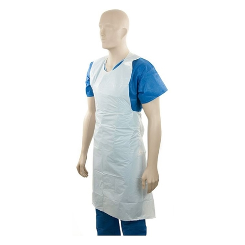 M-SERIES DISPOSABLE PLASTIC APRON WHITE 800x1250mm 400ctn