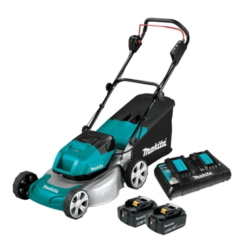 "MAKITA LTX BRUSHLESS LAWN MOWER 18""/460mm 2x18v 5Ah KIT"