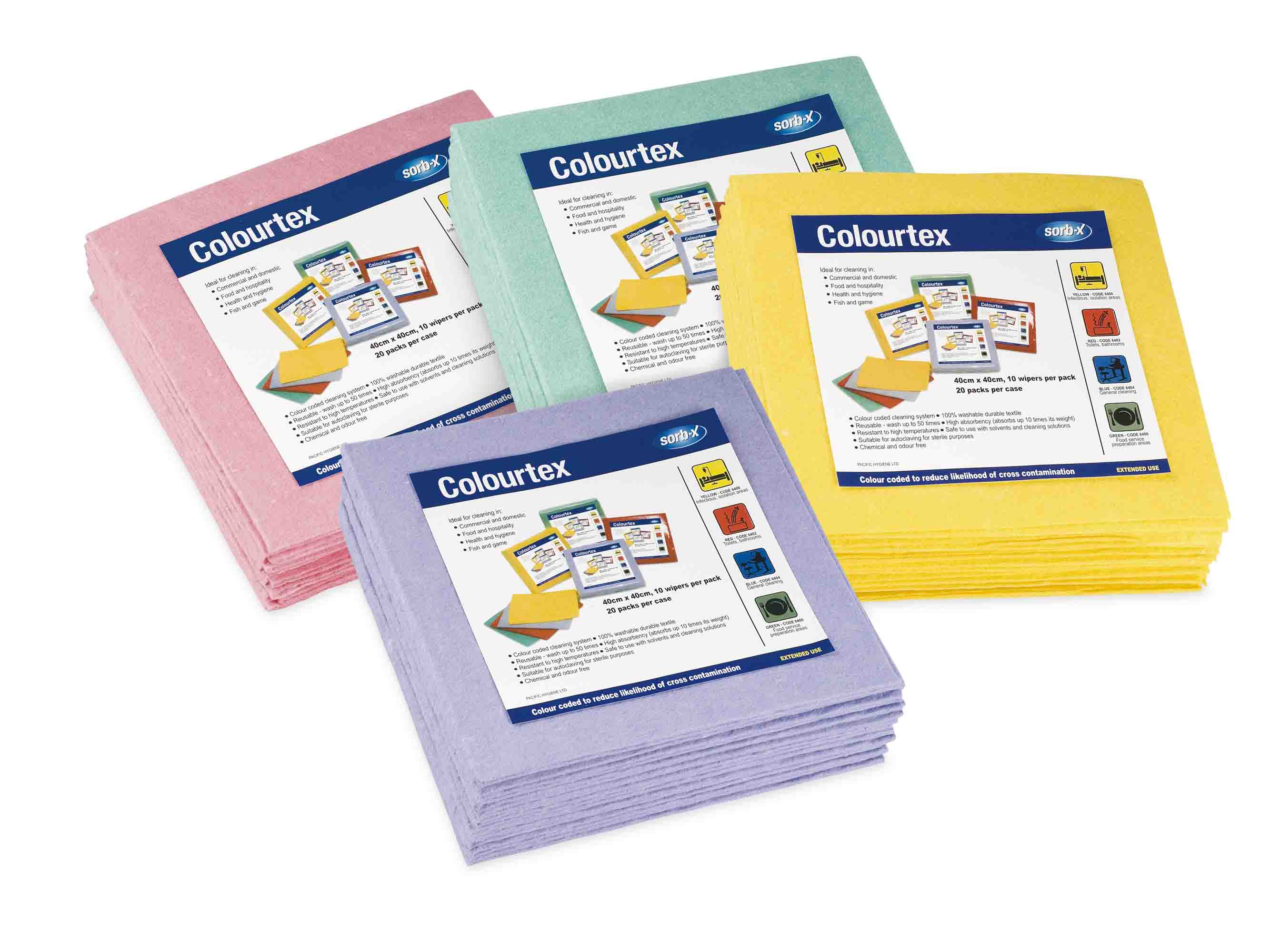 COLOUR TEX CLEANING CLOTHS 10 Pack