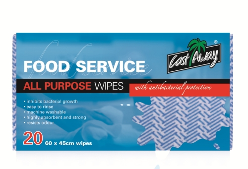 CASTAWAY ALL PURPOSE WIPES BLUE 20 Pack