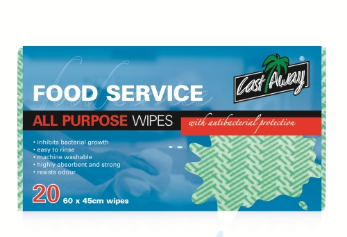 CASTAWAY ALL PURPOSE WIPES GREEN  20pack