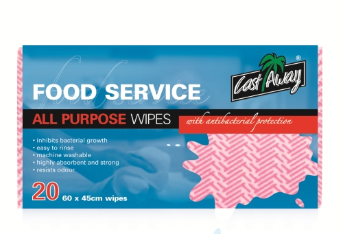 CASTAWAY ALL PURPOSE WIPES RED 20pack