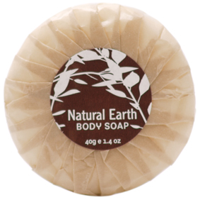 NATURAL EARTH PLEAT WRAPPED SOAP 40g 350