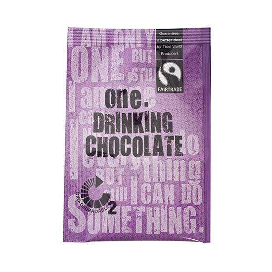 ONE FAIRTRADE CHOCOLATE DRINK SACHETS 300