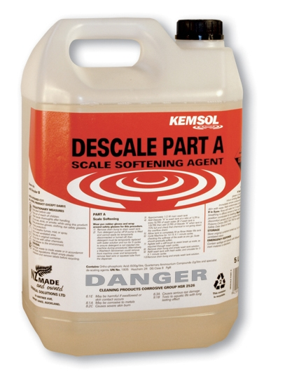 KEMSOL DESCALE PART A ACID SOFTENER 5ltr DG