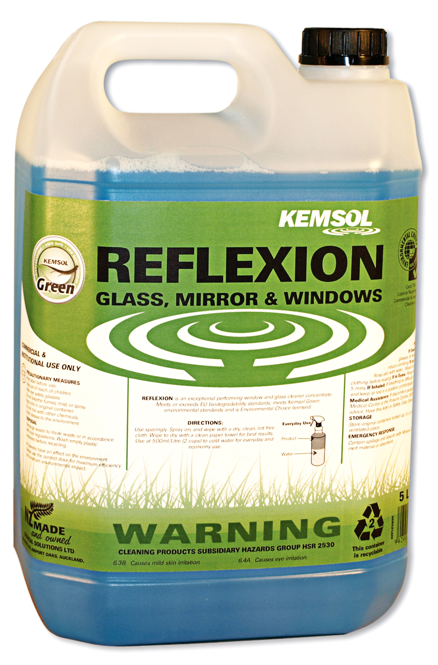 KEMSOL GREEN REFLEXION GLASS CLEANER 5Ltr
