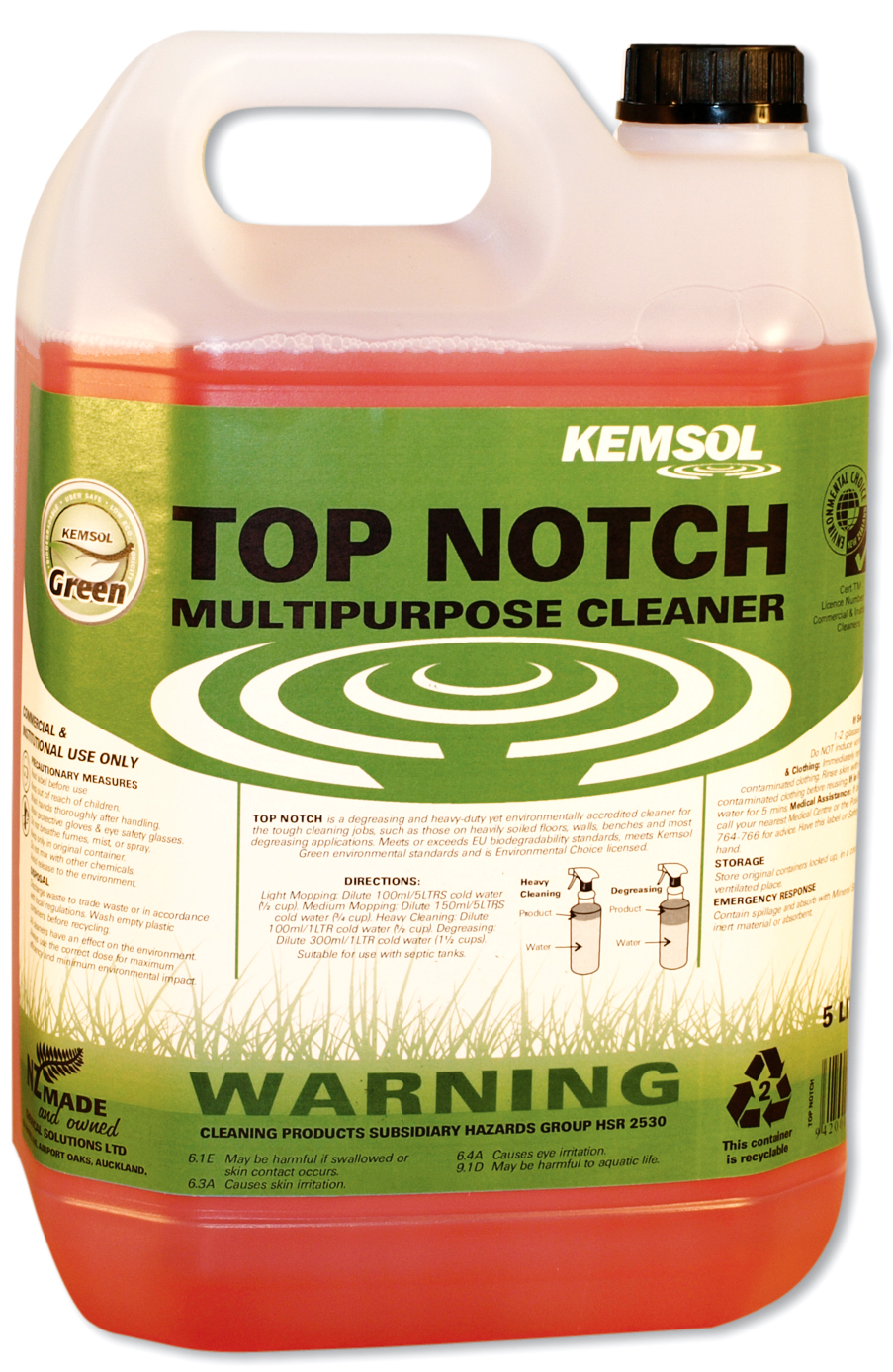 KEMSOL GREEN TOP NOTCH MULTIPURPOSE CLEANER 5Ltr
