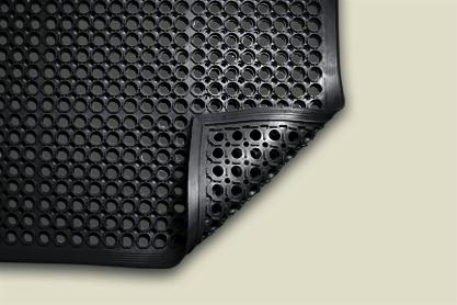 WORKSAVE JUNIOR BLACK RUBBER MAT 890x1520mm