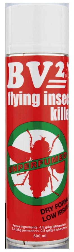 BV2 COMMERCIAL FLY SPRAY MPI  AERO 500ml ea DGLQ